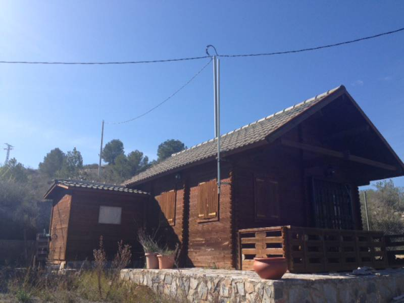 Wooden chalet - For Sale - Ricote - Very picturesque setting, spectacular Campo de Ri